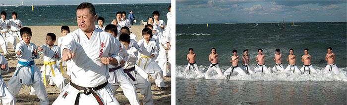 寒稽古2009年 拳正会空手道連盟